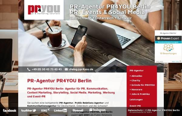Vorschau von www.pr4you.de, PR-Agentur pr4you - Holger Ballwanz