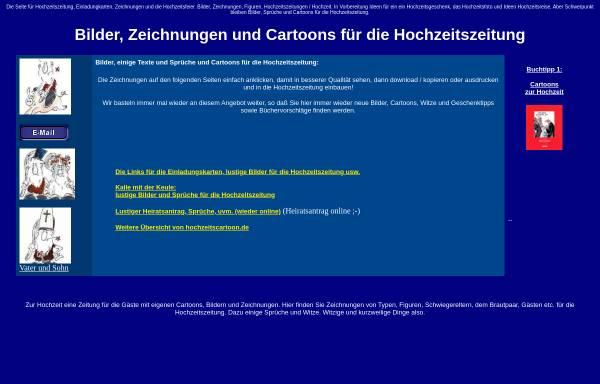 Vorschau von www.hochzeitscartoon.de, Bilder und Figuren für die Hochzeitszeitung