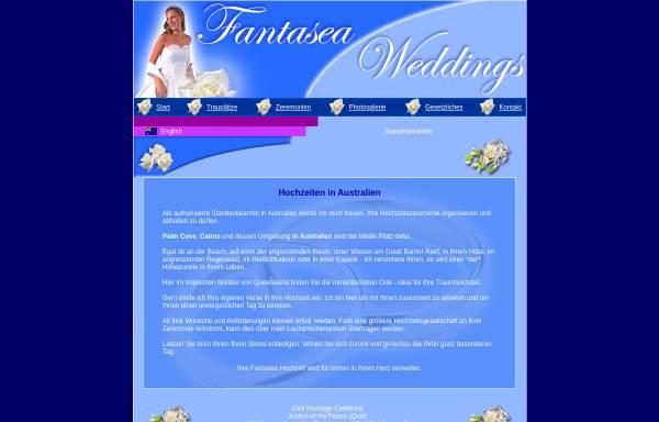 Vorschau von www.fantaseaweddings.com.au, Fantasea Weddings