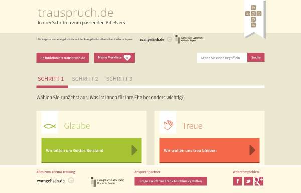 Vorschau von www.trauspruch.de, Trauspruch