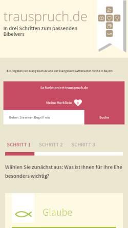 Vorschau der mobilen Webseite www.trauspruch.de, Trauspruch