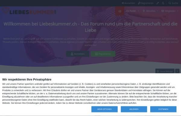 Vorschau von www.liebeskummer.ch, Liebeskummer Forum Schweiz