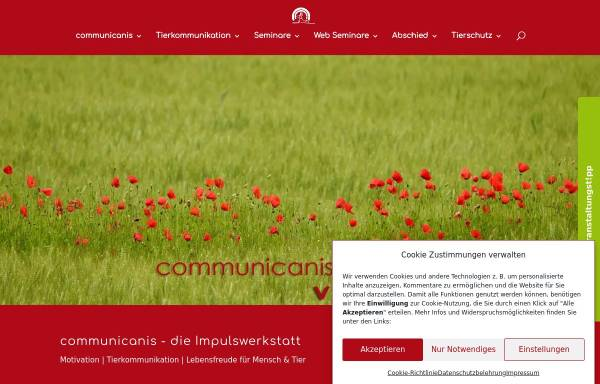 Vorschau von communicanis.de, Communicanis Mensch und Tier im Medialog