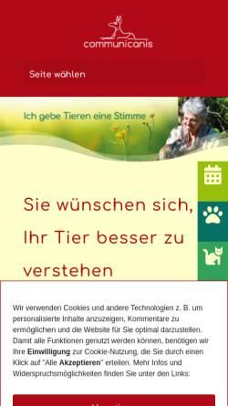 Vorschau der mobilen Webseite communicanis.de, Communicanis Mensch und Tier im Medialog
