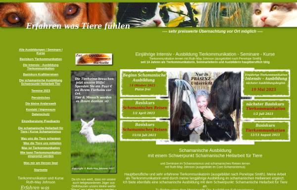 Vorschau von www.tiercomm.de, Ruth-May Johnson