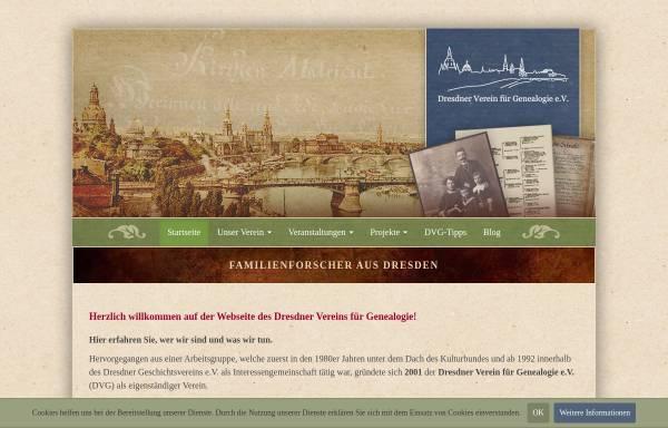 Vorschau von www.dresdner-verein-fuer-genealogie.de, Dresdner Verein für Genealogie e.V. (DVG)