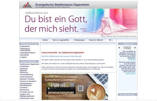 Vorschau von www.stadtmission-oppenheim.de, Evangelische Stadtmission Oppenheim