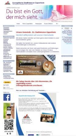 Vorschau der mobilen Webseite www.stadtmission-oppenheim.de, Evangelische Stadtmission Oppenheim
