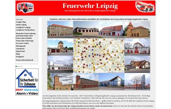 Vorschau von www.feuerwehrleipzig.de, Feuerwehr im Regierungsbezirk Leipzig: Stadt Leipzig, Landkreis Leipzig, Delitzsch, Muldental und Döbeln