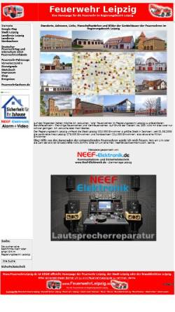 Vorschau der mobilen Webseite www.feuerwehrleipzig.de, Feuerwehr im Regierungsbezirk Leipzig: Stadt Leipzig, Landkreis Leipzig, Delitzsch, Muldental und Döbeln