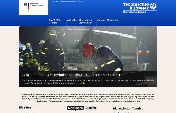 Vorschau von www.thw-grimma.de, THW Ortsverband Grimma