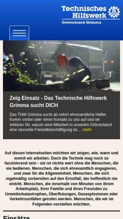 Vorschau der mobilen Webseite www.thw-grimma.de, THW Ortsverband Grimma
