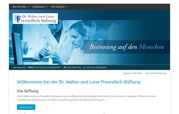 Vorschau von www.freundlich-stiftung.de, Dr. Walter und Luise Freundlich Stiftung