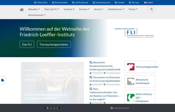 Vorschau von www.fli.bund.de, Friedrich-Loeffler-Institut, Bundesforschungsinstitut für Tiergesundheit (FLI)