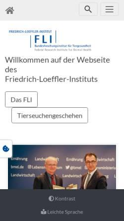 Vorschau der mobilen Webseite www.fli.bund.de, Friedrich-Loeffler-Institut, Bundesforschungsinstitut für Tiergesundheit (FLI)