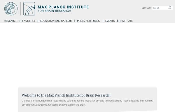 Vorschau von brain.mpg.de, Max-Planck-Institut für Hirnforschung Frankfurt/Main