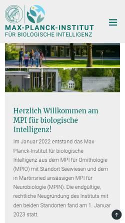 Vorschau der mobilen Webseite www.neuro.mpg.de, Max-Planck-Institut für Neurobiologie Martinsried