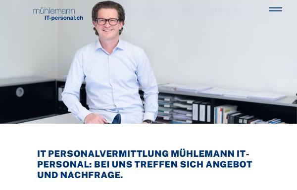 Vorschau von www.it-personal.ch, Mühlemann IT-Personal AG
