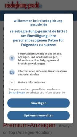 Vorschau der mobilen Webseite www.reisebegleitung-gesucht.de, Reisebegleitung-gesucht.de