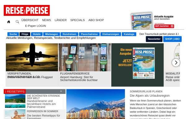 Vorschau von www.reise-preise.de, Reise-Preise.de