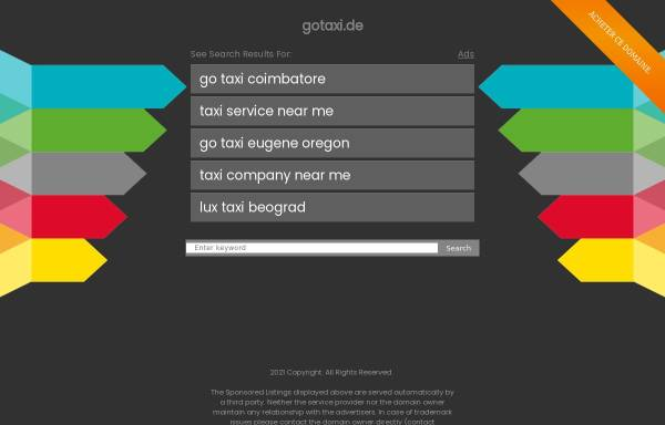 Vorschau von www.gotaxi.de, Go Taxi