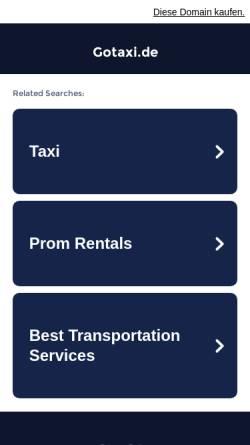 Vorschau der mobilen Webseite www.gotaxi.de, Go Taxi