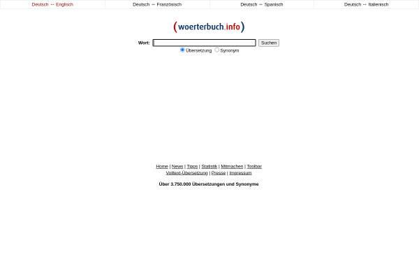 Vorschau von www.woerterbuch.info, Woerterbuch.info