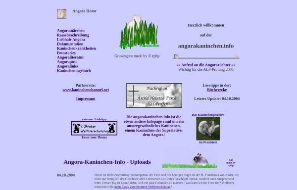 Vorschau von www.angorakaninchen.info, Angorakaninchen.info