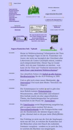 Vorschau der mobilen Webseite www.angorakaninchen.info, Angorakaninchen.info