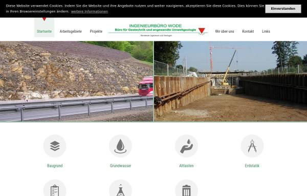 Vorschau von www.baugrund-altlasten-geotechnik-hydrogeologie.de, Ingenieurbüro R.-U. Wode, Büro für Geotechnik und angewandte Umweltgeologie