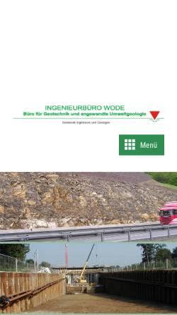 Vorschau der mobilen Webseite www.baugrund-altlasten-geotechnik-hydrogeologie.de, Ingenieurbüro R.-U. Wode, Büro für Geotechnik und angewandte Umweltgeologie