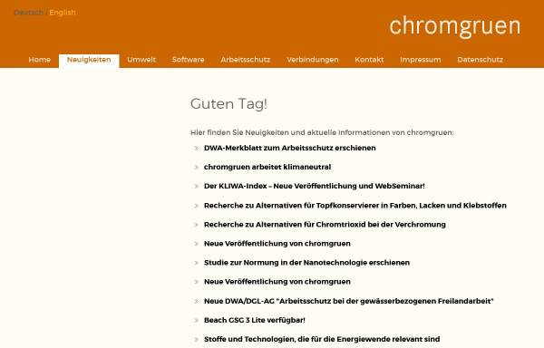 Vorschau von www.chromgruen.com, Chromgruen GmbH & Co. KG