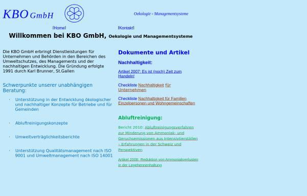Vorschau von www.kbo.ch, KBO GmbH
