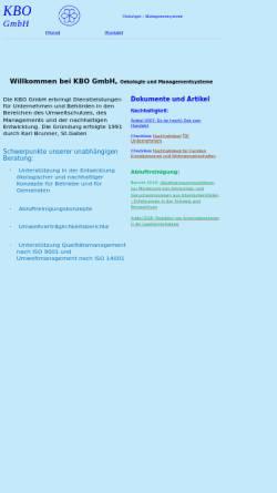 Vorschau der mobilen Webseite www.kbo.ch, KBO GmbH