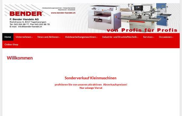 Vorschau von www.bender-handel.ch, F. Bender Handels AG