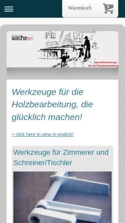 Vorschau der mobilen Webseite www.wache-ist-sache.de, Friedemann Wache