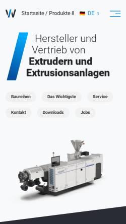 Vorschau der mobilen Webseite www.holzschleifmaschine.de, Hans Weber Maschinenfabrik GmbH