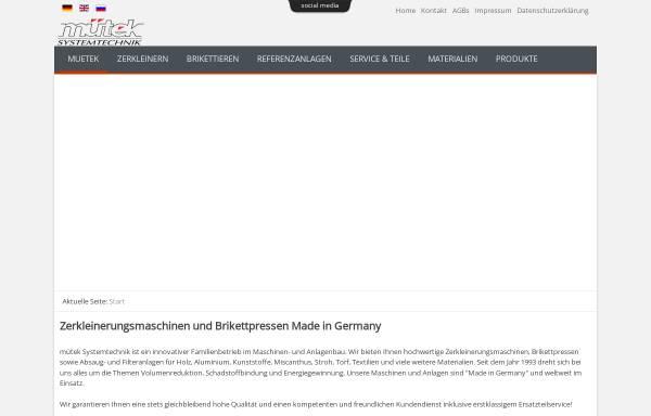 Vorschau von www.muetek.eu, Hartmut Müller GmbH