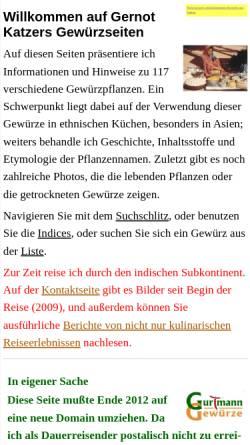 Vorschau der mobilen Webseite gernot-katzers-spice-pages.com, Gernot Katzer's Gewürzlexikon
