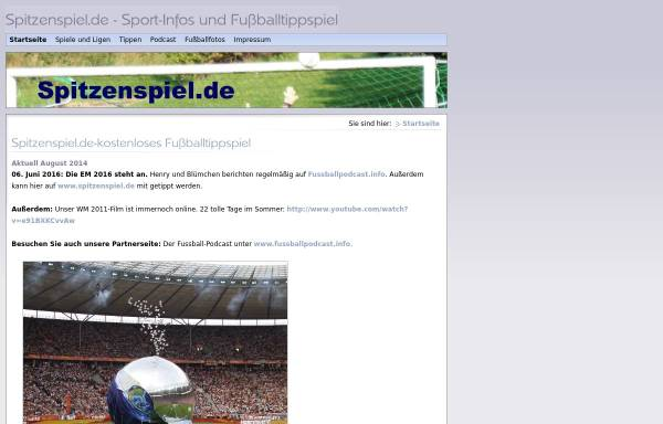 Vorschau von www.spitzenspiel.de, Spitzenspiel.de