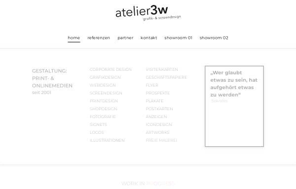 Vorschau von www.atelier3w.de, Atelier 3w