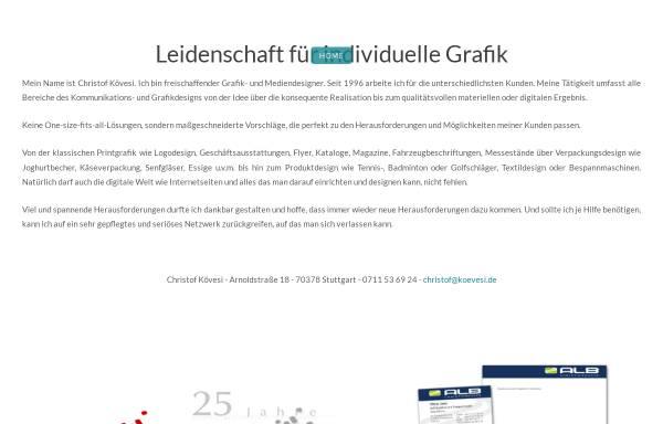 Vorschau von www.koevesi.de, Christof Kövesi Graphik- und Mediendesign