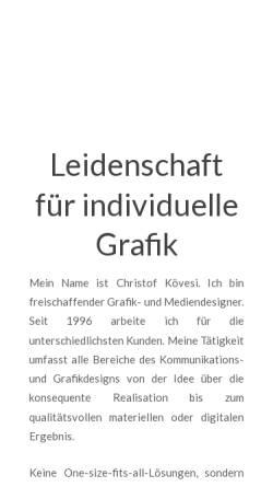 Vorschau der mobilen Webseite www.koevesi.de, Christof Kövesi Graphik- und Mediendesign