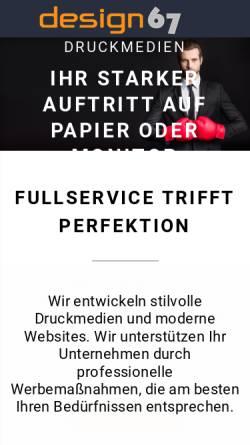 Vorschau der mobilen Webseite www.design67.de, design67