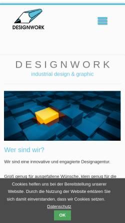 Vorschau der mobilen Webseite www.design-work.com, Designwork