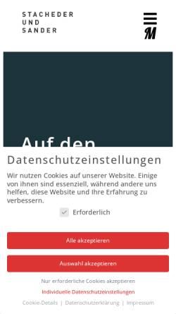 Vorschau der mobilen Webseite www.stachederundsander.de, Stacher und Sander