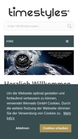Vorschau der mobilen Webseite www.timestyles.de, Timestyles GmbH