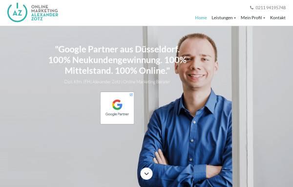 Vorschau von www.alexander-zotz.de, AZ Online Marketing - Dipl.-Kfm. (FH) Alexander Zotz