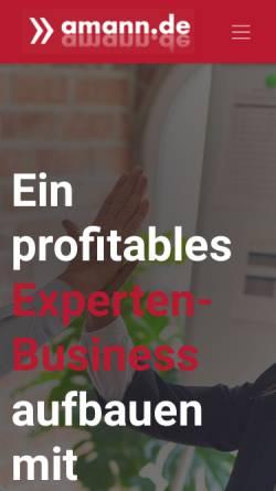 Vorschau der mobilen Webseite www.amann.de, Marcus Amann