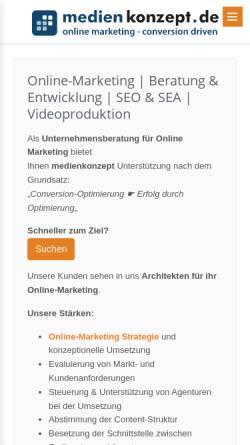 Vorschau der mobilen Webseite www.medienkonzept.de, Medienkonzept.de - Dipl.-Ing.(FH) Roland Klein
